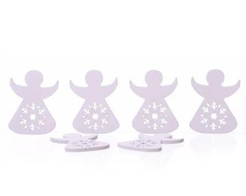 Деревянные ангелы 6 шт. Белое Рождество  доставка товаров из Польши и Allegro на русском