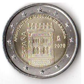 2 евро открытки Испания 2020 !!НОВИНКА!! доставка товаров из Польши и Allegro на русском