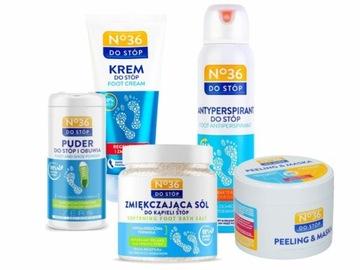 НАБОР для ухода за НОГ No36 спрей крем пудра соль доставка товаров из Польши и Allegro на русском