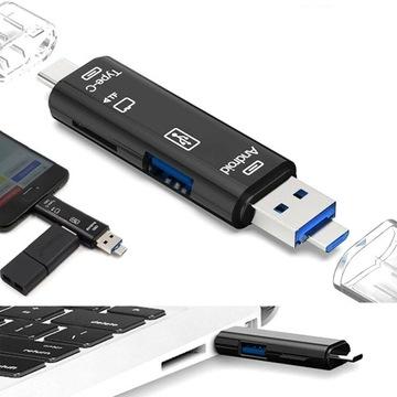 Устройство чтения карт micro SD TF 3 в 1 USB 3.0 USB-C OTG доставка товаров из Польши и Allegro на русском