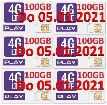 play internet na kartę 6x 100GB 600GB 05.01.2021 доставка товаров из Польши и Allegro на русском