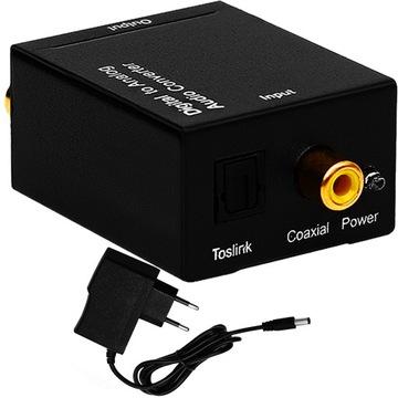 Коаксиальный оптический преобразователь Toslink на 2x Cinch RCA доставка товаров из Польши и Allegro на русском
