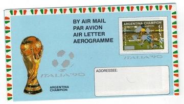 Гайана 1990 Аэрограмме спорт футбол чемпионат доставка товаров из Польши и Allegro на русском