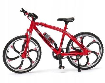 Модель велосипеда велосипед Кросс розовый горец 1:10 металл красного, белого доставка товаров из Польши и Allegro на русском