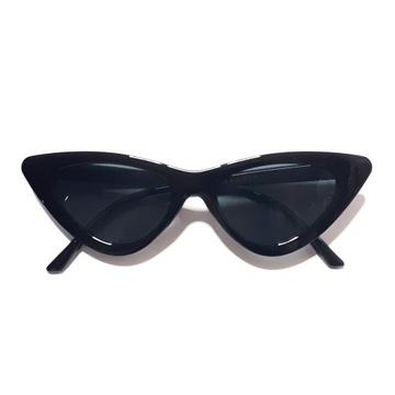 солнцезащитные очки Женские Кошачий Котята Гламур Черные UV 400 доставка товаров из Польши и Allegro на русском
