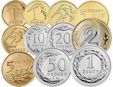Комплект циркуляционных монет 2014 года. UNC 11 штук доставка товаров из Польши и Allegro на русском