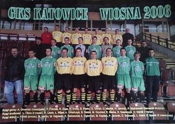 Плакат польской лиги GKS KATOWICE весна 2006 4-я лига  доставка товаров из Польши и Allegro на русском