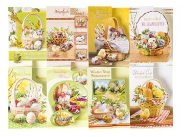 Пасхальный кролик - Пасхальная открытка ПАСХАЛЬНЫЕ ОТКРЫТКИ НА РОЖДЕСТВО B6  доставка товаров из Польши и Allegro на русском
