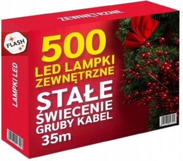 LAMPKI CHOINKOWE 500 LED ZEWNĘTRZNE STAŁE + FLASH доставка товаров из Польши и Allegro на русском