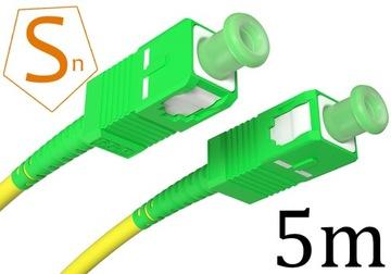 Patchcord światłowód kabel SC/APC-SC/APC 5m simple доставка товаров из Польши и Allegro на русском