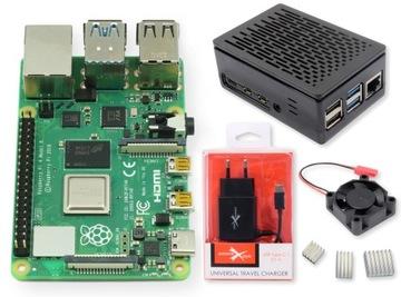 Набор Raspberry Pi 4B 4GB корпус вентилятор+akcs доставка товаров из Польши и Allegro на русском