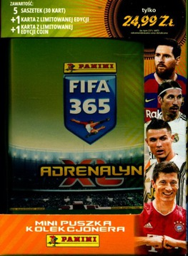 MINI PUSZKA Z KARTAMI FIFA 365 rok 2021 доставка товаров из Польши и Allegro на русском