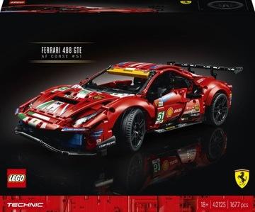 LEGO TECHNIC Ferrari 488 GTE AF Corse # 51 42125  доставка товаров из Польши и Allegro на русском