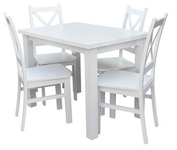 Обеденный стол с 4 стульями, белый для кухни столовой Z057 доставка товаров из Польши и Allegro на русском