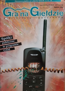 ИГРА на БИРЖЕ № 03 (год III) 1996 [УНИКУМ] доставка товаров из Польши и Allegro на русском