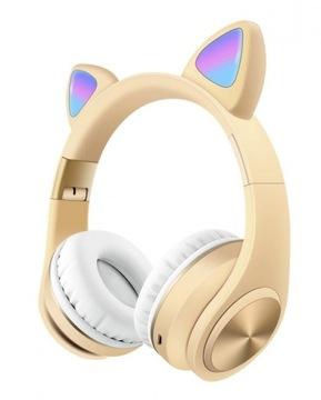 Słodki zestaw słuchawkowy Bluetooth Kot Słuchawki доставка товаров из Польши и Allegro на русском
