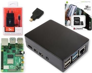 Набор Raspberry Pi 4B 2ГБ пассивная монтаж.alu. 16GB доставка товаров из Польши и Allegro на русском