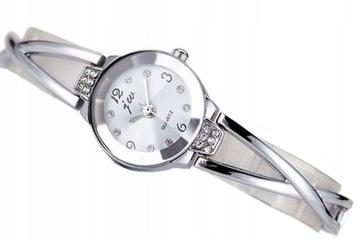 Zegarek Damski Bransoletka a39 biały SREBRNY