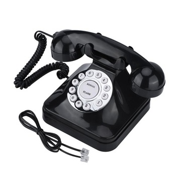 Проводной телефон Vbestlife Винтаж WX3011 черный доставка товаров из Польши и Allegro на русском