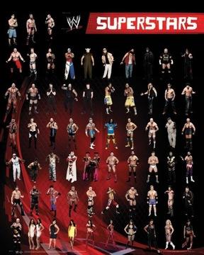 WWE Superstars Персонажи Постер из фильма 40x50 см доставка товаров из Польши и Allegro на русском