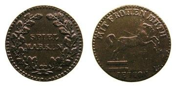 8803. NORYMBERGA. OK. 1900, ŻETON DO GRY, 19,4mm доставка товаров из Польши и Allegro на русском
