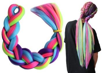 Синтетические косы для волос 4 цвета простые RAINBOW доставка товаров из Польши и Allegro на русском
