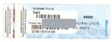 КОА MS Windows 7 Professional 32/64 OEM ОРИГИНАЛЬНАЯ доставка товаров из Польши и Allegro на русском