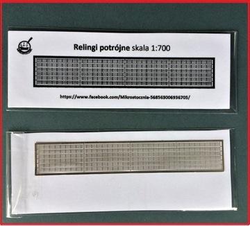РЕЙЛИНГИ травленые детали ТРОЙНОЙ новый серебро 1:700 доставка товаров из Польши и Allegro на русском