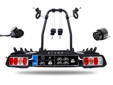 STORM 4 - Багажник держатель велосипедов на фаркоп на 4 велосипеда доставка товаров из Польши и Allegro на русском