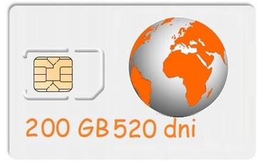 200 ГБ Интернет на карту ORANGE Free 520 дней, LTE доставка товаров из Польши и Allegro на русском