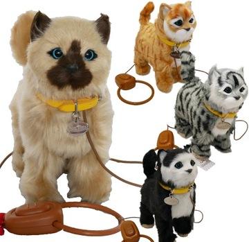 ИНТЕРАКТИВНЫЙ КОТЕНОК НА ПОВОДКЕ кошка ХОДИТ МЯУКАЕТ доставка товаров из Польши и Allegro на русском
