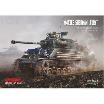 Angraf 194 - Танк M4A3E8 Sherman FURY 1:25 доставка товаров из Польши и Allegro на русском