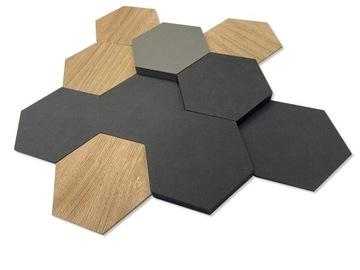 Декоративная панель hexagon дерево черный, серый, 3d доставка товаров из Польши и Allegro на русском