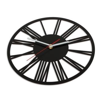 CICHY Zegar ścienny RETRO VINTAGE CZARNY 30 cm