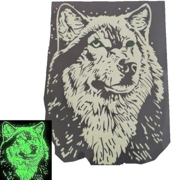 железная наклейка на одежду wolf fluoro XL  доставка товаров из Польши и Allegro на русском