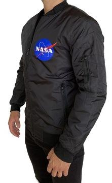 MĘSKA KURTKA NASA ROZ M OCIEPLANA BOMBERKA CZARNA доставка товаров из Польши и Allegro на русском