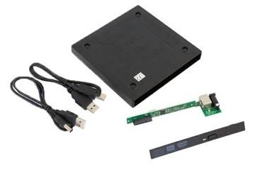 Корпус, DVD-Привод Пишущий привод USB-CD SATA 9,5 мм доставка товаров из Польши и Allegro на русском