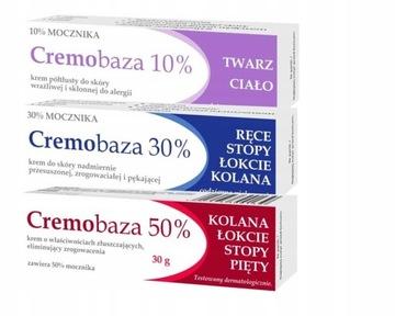CREMOBAZA Zestaw kremów z mocznikiem 10% 30% 50% доставка товаров из Польши и Allegro на русском