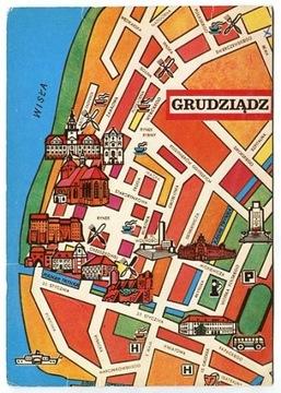 GRUDZIĄDZ -- plan miasta - zabytki доставка товаров из Польши и Allegro на русском