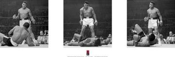 Мухаммед Али vs Liston Триптих плакат 30,5x91,5 см доставка товаров из Польши и Allegro на русском