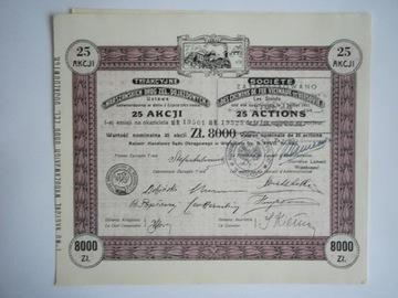 WARSZAWSKIE DROGI ŻELAZNE DOJ. 25 AKCJI - 8000 ZŁ доставка товаров из Польши и Allegro на русском