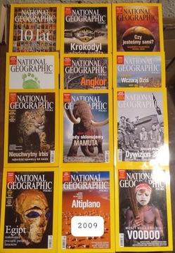 National Geographic год выпуска 2009 12 номеров ВСЕ доставка товаров из Польши и Allegro на русском