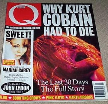 Q Magazine czerwiec 1994 Kurt Cobain Mariah Carey доставка товаров из Польши и Allegro на русском
