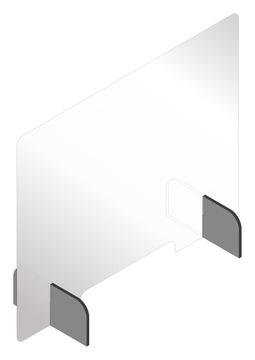 Osłona plexi szyba ochronna biurko 100x75 i GRATIS