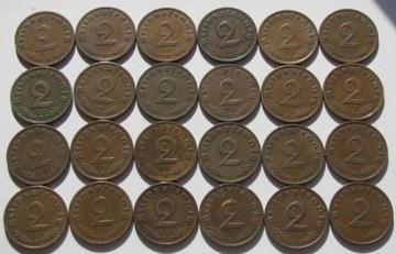 2 Reichspfennig 1937 1938 1939 1940 A B D E F Ładn доставка товаров из Польши и Allegro на русском