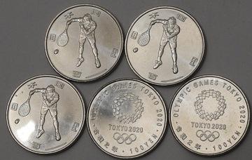 Япония 100 ЙЕН Олимпиада 2020 Монетный двор Теннис  доставка товаров из Польши и Allegro на русском