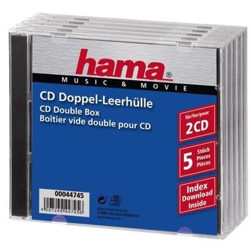 Упаковка CD-BOX 5 шт. двойной /Hama доставка товаров из Польши и Allegro на русском