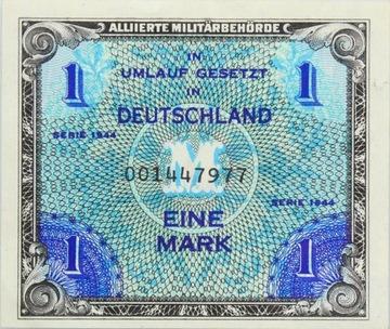 Германия - СОЮЗНИКИ - БАНКНОТА - 1 Марка 1944 доставка товаров из Польши и Allegro на русском