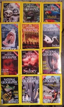 National Geographic год выпуска 2000 12 номеров ВСЕ доставка товаров из Польши и Allegro на русском