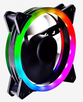 Вентилятор RGB Ring RAINBOW, LED, Разъем molex 4 pin доставка товаров из Польши и Allegro на русском